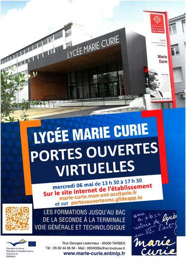Portes Ouvertes virtuelles Lycée Marie Curie