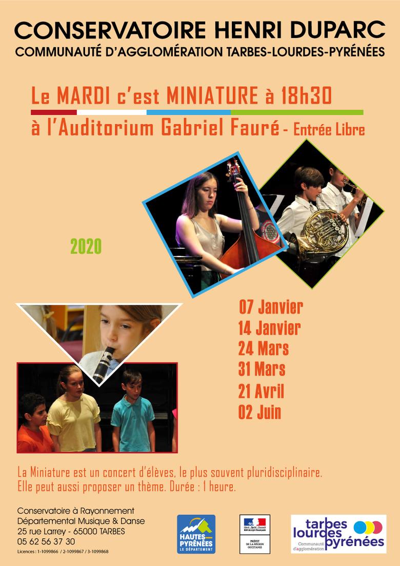 ÉVÉNEMENT ANNULÉ : Miniature au Conservatoire : Département Voix