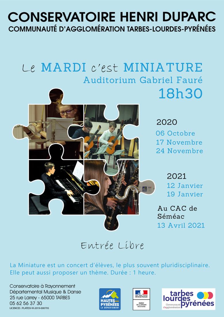 ÉVÉNEMENT ANNULÉ : Miniature au Conservatoire
