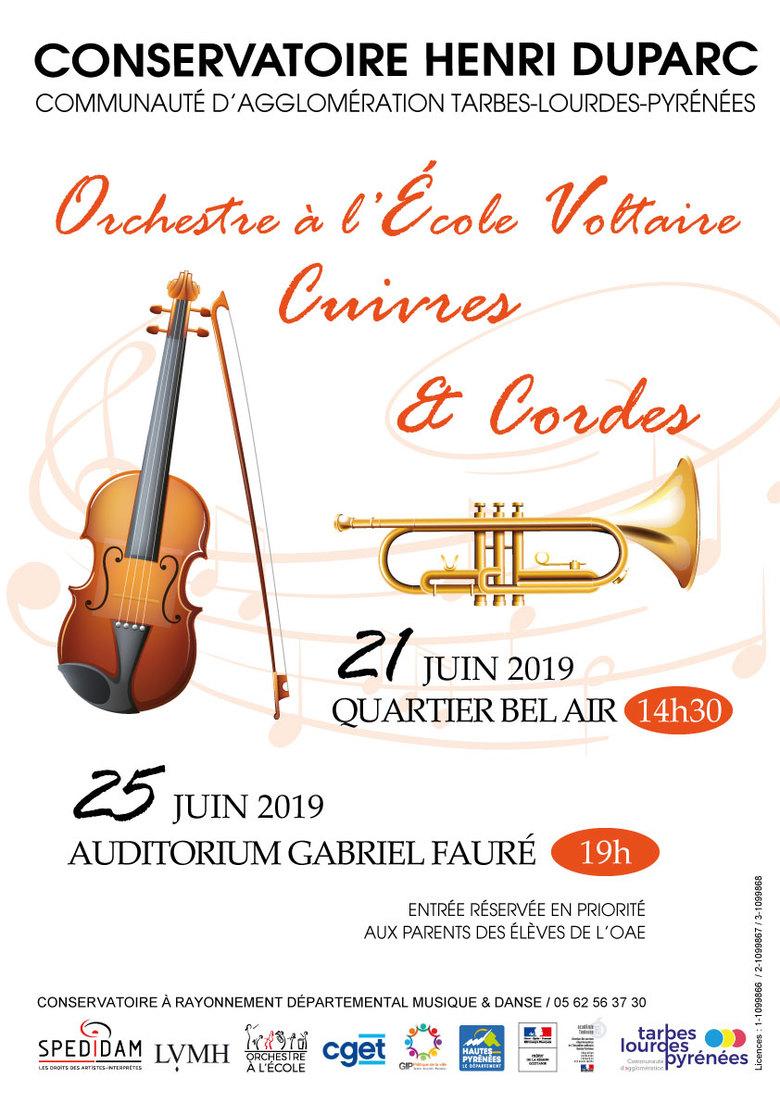 Concert Orchestres à l'école Cuivres et Cordes
