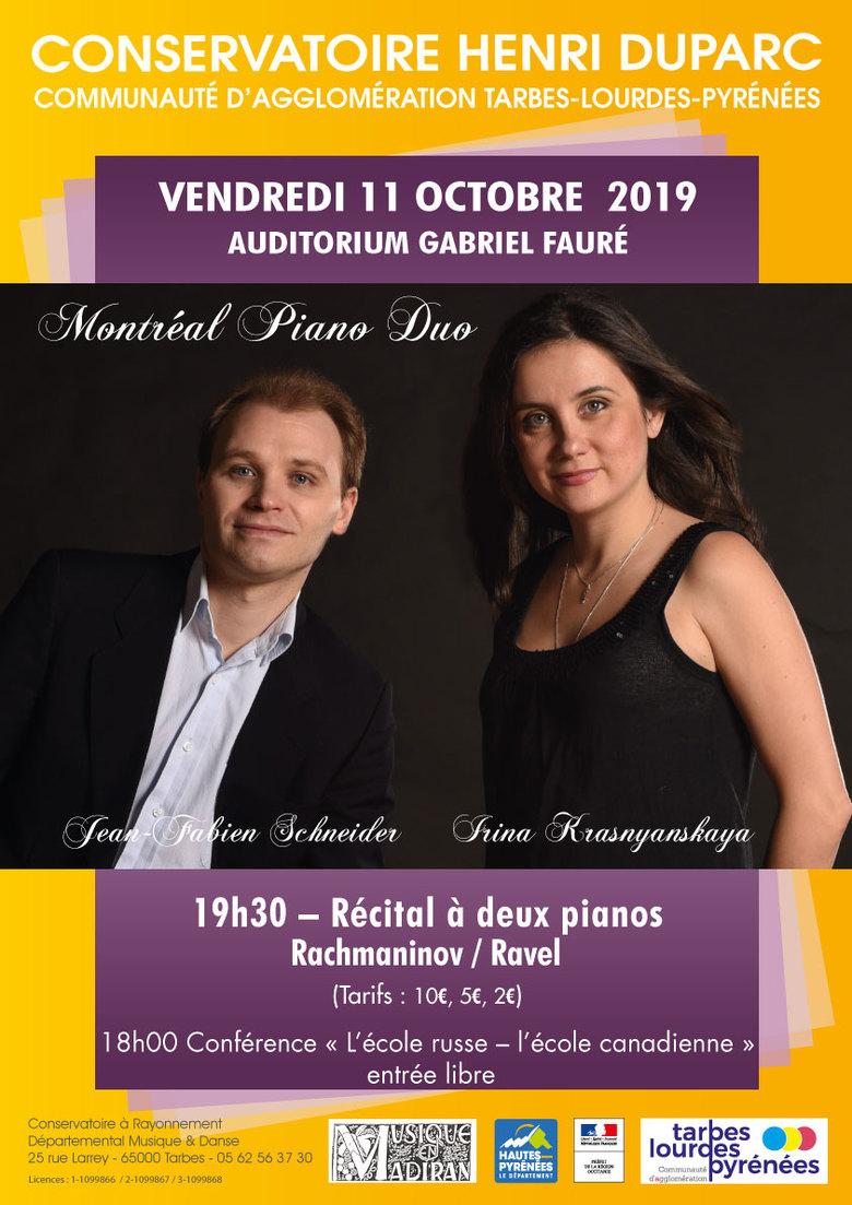 Récital Montréal Piano Duo