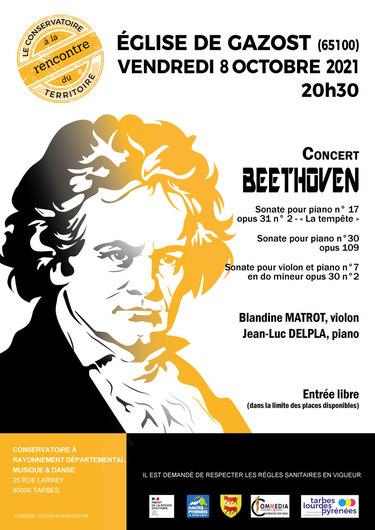 Rencontre du Territoire, Concert Beethoven - violon et piano