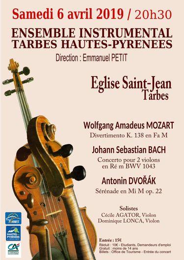 Concert Ensemble Instrumental de Tarbes et des Hautes-Pyrénées