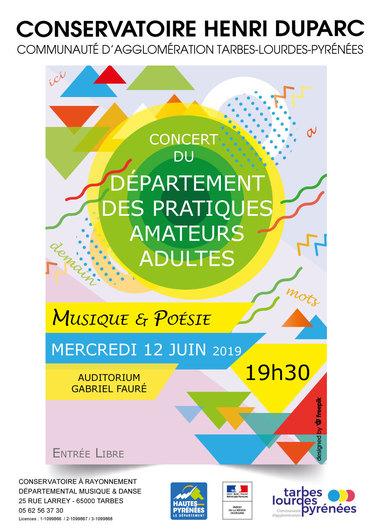 Concert du Département des Pratiques Amateurs Adultes