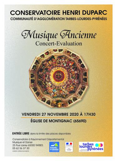 ÉVÉNEMENT ANNULÉ : Concert-évaluation - Musique Ancienne